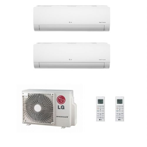 Lg Air Conditioning MU2M17-UL4 Multi Inverter Heat Pump Wall Mounted 2 x 2.5Kw Deluxe A++ 240V~50Hz